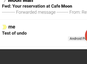 App mobile Gmail : Annuler l'envoi de mail