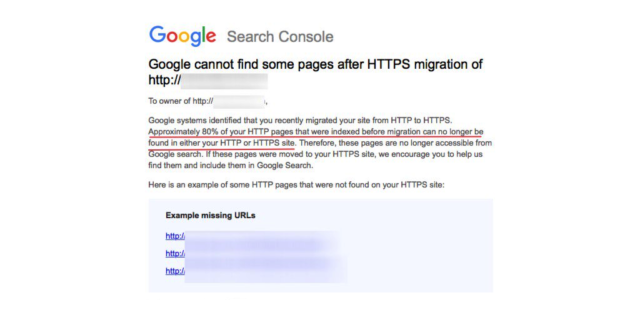 Google Search Console : Migration HTTP/HTTPS