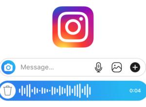 Instagram Direct : Message vocal