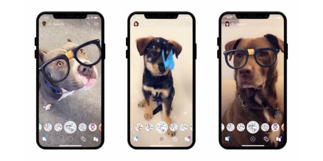 Snapchat : Lens pour chiens
