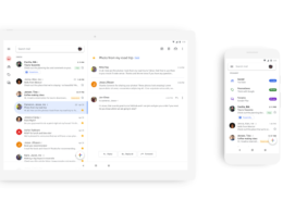 App mobile Gmail en Material Design
