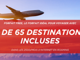Free Mobile : Roaming à l'international pour plus de 65 destinations
