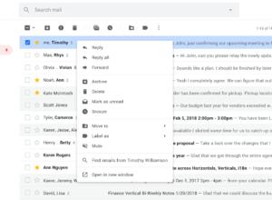 Gmail : Menu contextuel via le clic droit de la souris
