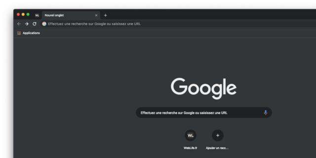 Google Chrome : Dark Mode