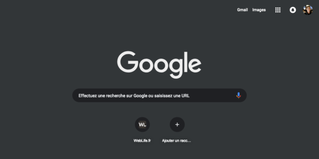 Google : Dark Mode depuis Chrome