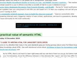 HTML sémantique