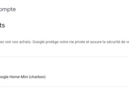 Compte Google : Achats en ligne
