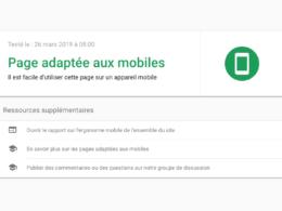 Google : Test d'optimisation mobile