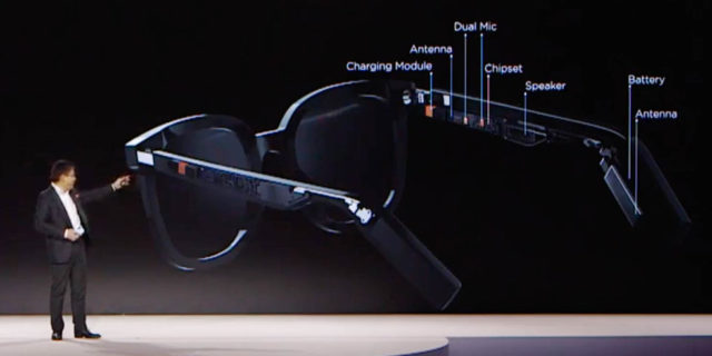 Huawei lance ses lunettes connectées avec micro et haut-parleurs intégrés