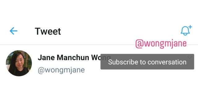 Twitter : S'abonner à une conversation et être notifié des réponses