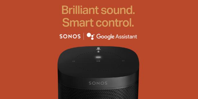 Enceintes Sonos avec Google Assistant