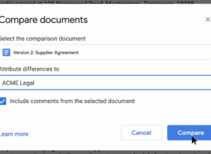 Google Docs : Comparer des documents