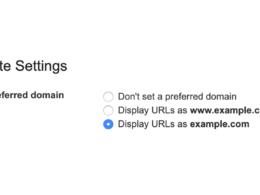 Google Search Console : Domaine favori