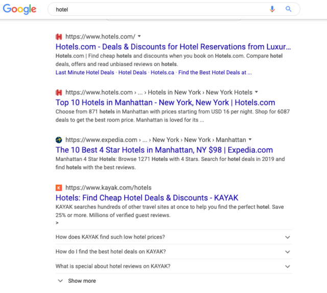 Google : Favicon & URL avant le titre