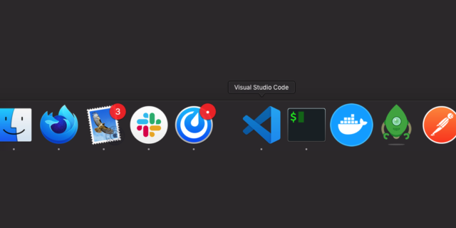 Dock MacOS : Séparateur d'applications