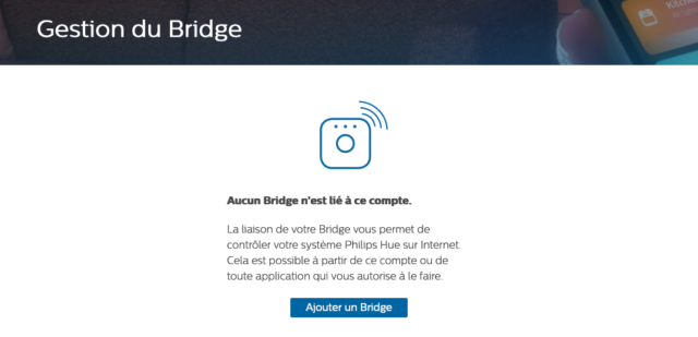 Philips Hue : Ajouter un bridge