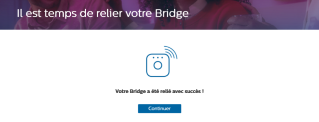 Philips Hue : Bridge relié