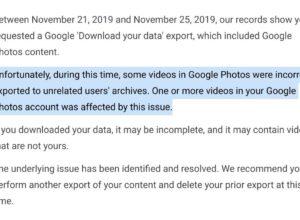 Google Photos : Erreur lors de la sauvegarde de vidéos privées