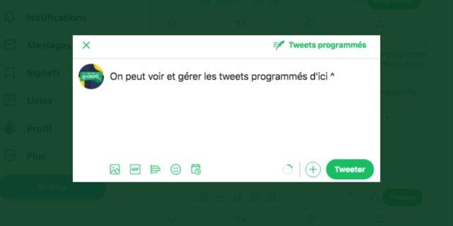 Twitter déploie l'option de programmation des tweets en France !